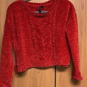 Sweaters - Cropped red sweater